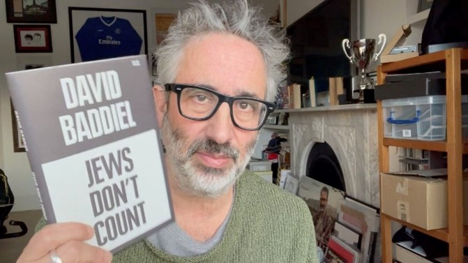 "A confused aging Jew with his ""book"""