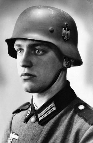 Photo of Werner Goldberg, a half-Jewish Wehrmacht WW2 soldier.